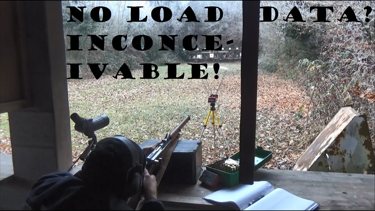 Loading with inadequate load data? Impossible? Not if you have a chronograph!