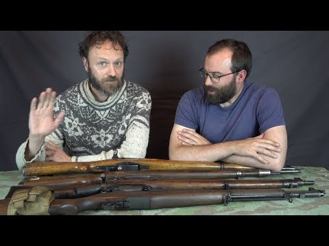 Lindybeige's 4 Mad Minutes! Swiss K31, Mauser Kar98k, Lee-Enfield No.4 and US M1 Garand