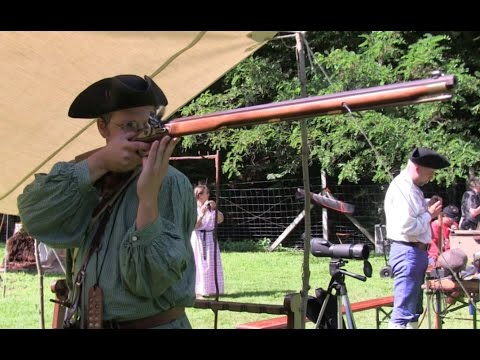 Trapper style shooting with the Pedersoli Jager flintlock rifle to 100 m