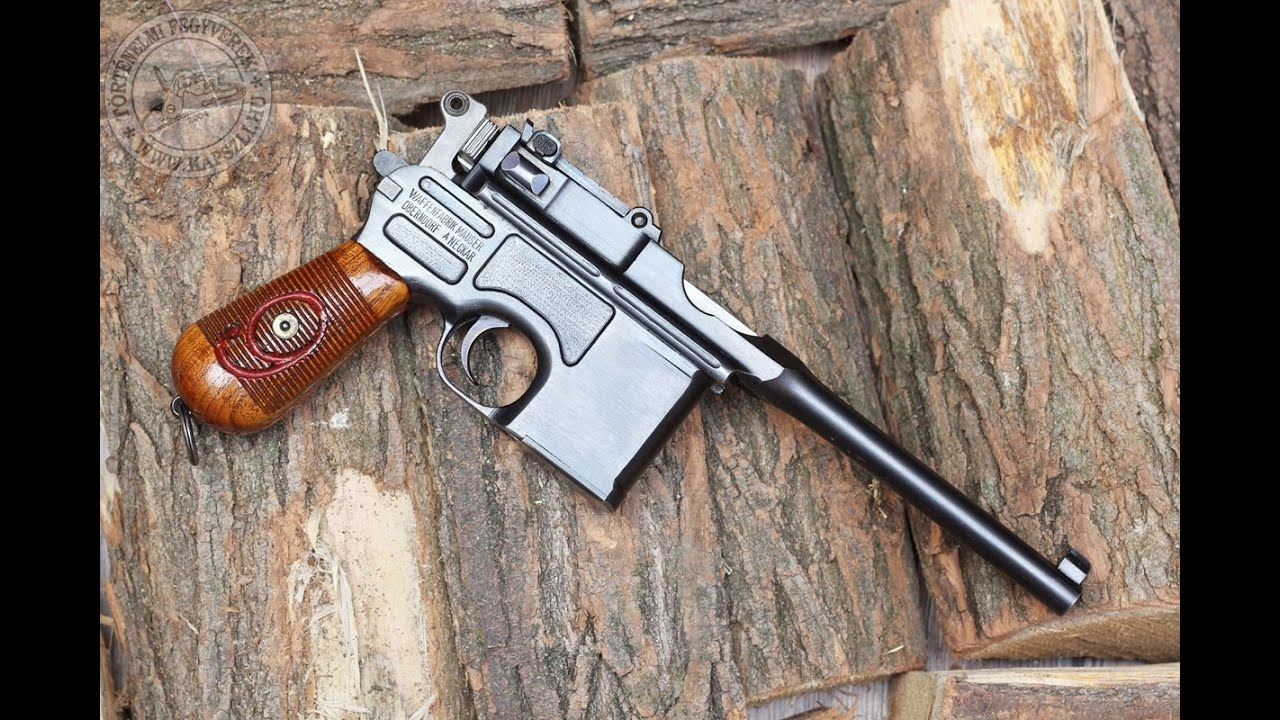 "Shooting the 9 mm Mauser C96 ""Red 9"" Broomhandle pistol"