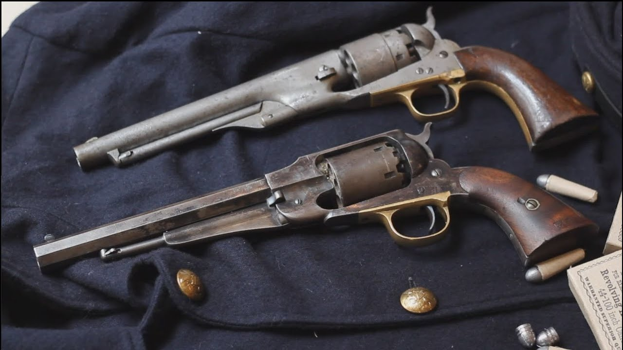 Original 1858 Remington New Model Army vs original Colt 1860 Army percussion revolver