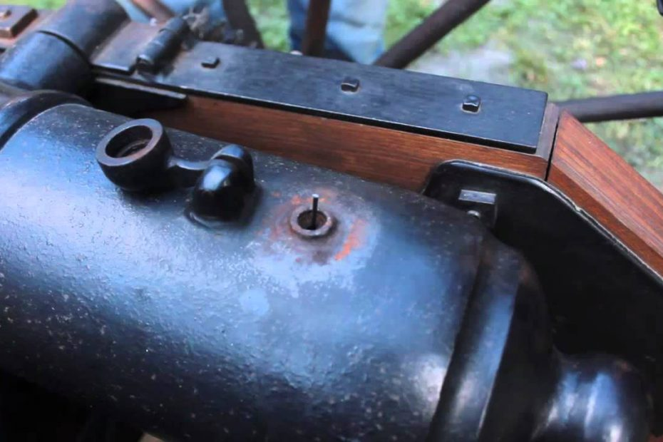 Shooting a blackpowder cannon