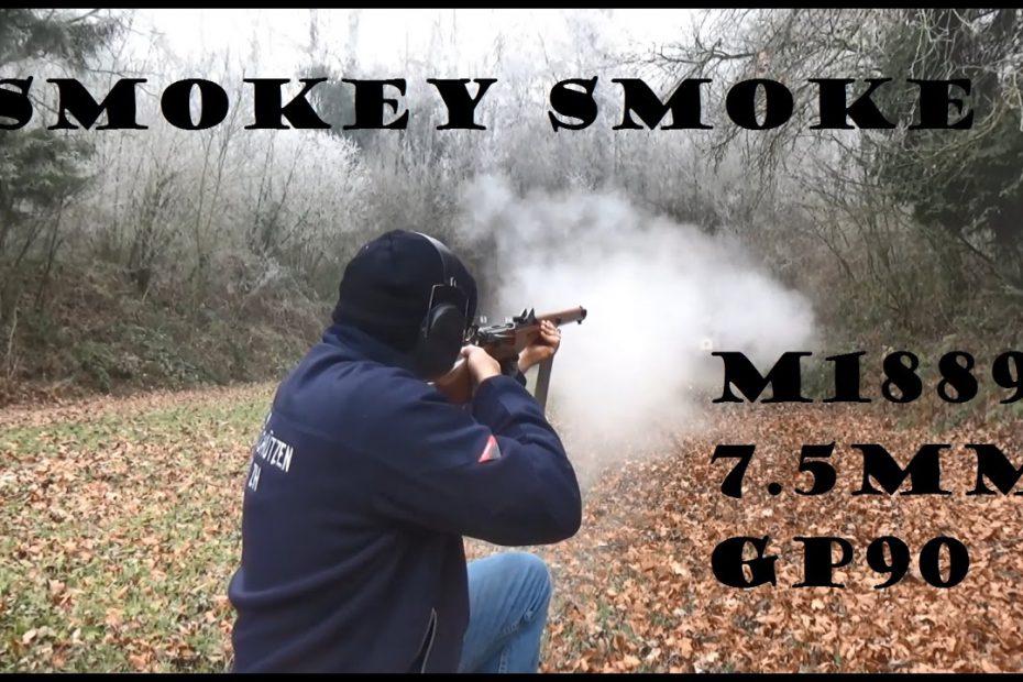 "Smoke from an 1889 Schmidt-Rubin? Smokeless, ""semismokeless"" and black powder comparison!"