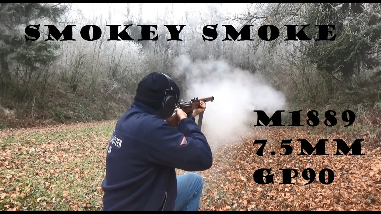 "Smoke from an 1889 Schmidt-Rubin? Smokeless, ""semismokeless"" and black powder comparison!"
