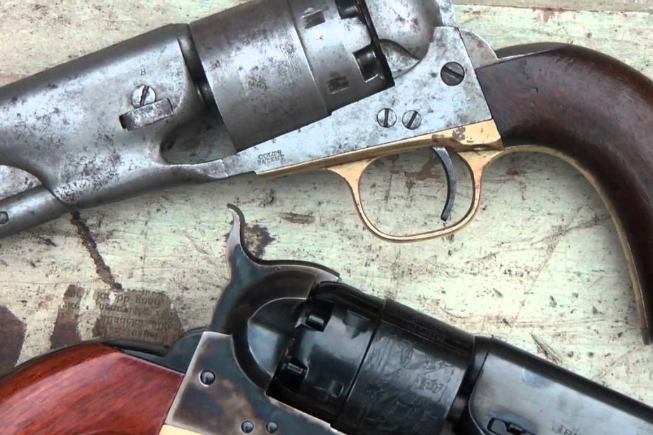 Testshooting an original Colt 1860 Army vs Uberti 1860 Army