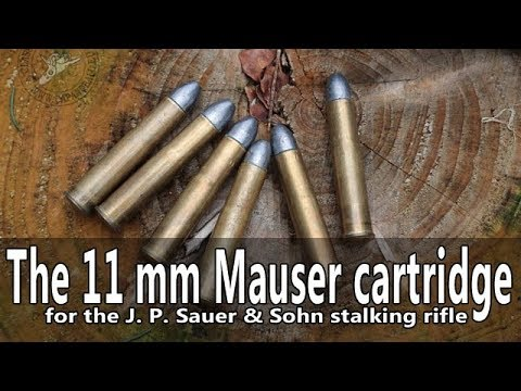 The 11 mm Mauser cartridge of the 19th century Sauer stalking rifle