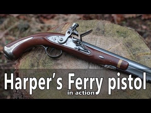 Shooting the Harper's Ferry flintlock pistol