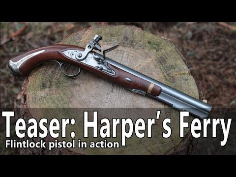 U.S. Harper's Ferry flintock pistol in action – Teaser