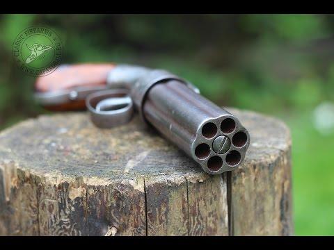 Shooting the Allen Thurber pepperbox revolver – TEASER