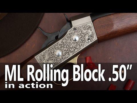 Muzzleloading Rolling Block  .50 cal rifle range test