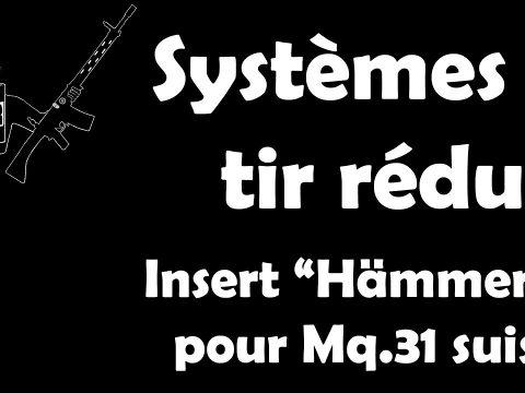 """FRANCAIS: Système à tir réduit """"Hämmerli"""" pour Mousqueton 31 suisse"""