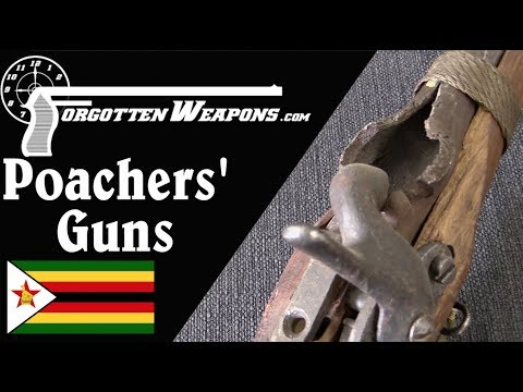 Confiscated Homemade Poachers' Guns from Zimbabwe