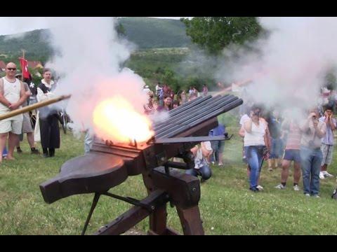Firing a volley gun