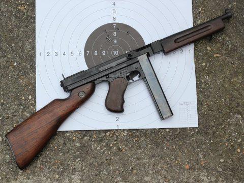 Shooting the Thompson M1A1 submachine gun