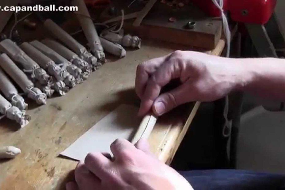Making buck and ball Civil War cartridge