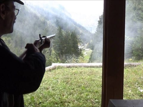 Bonus video – one shot with a .45 Hawken rifle at 300m
