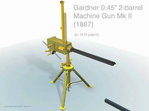 Gardner 2 barrel Machine Gun (1879)
