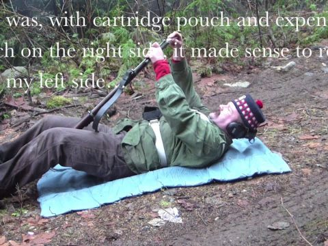 Loading and Firing the P60 Enfield Army Short Rifle from the Prone (Supine)