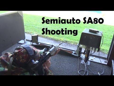 SA80 / L85A1 semiauto Part 2: zeroing and shooting at 300m
