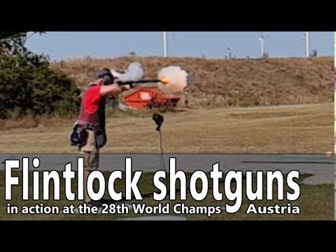 Flintlock shotguns in action at the World Championships