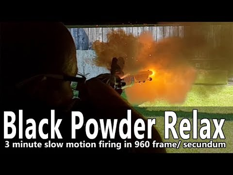 Firing muzzleloaders recorded with 960 frame per sec