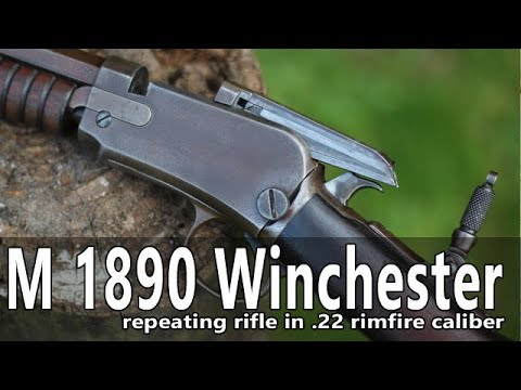 Shooting the Model 1890 Winchester slide action rifle