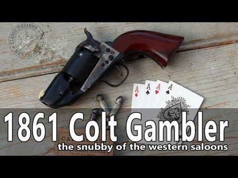 Firing a Colt 1861 Navy Gambler Snubby revolver
