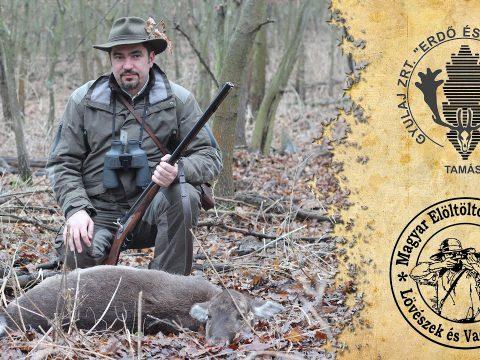 Elöltöltő fegyveres vadászat duplagolyós puskával Gyulajban