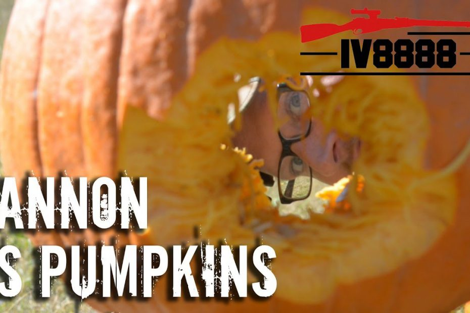 37mm Cannon vs Pumpkins!