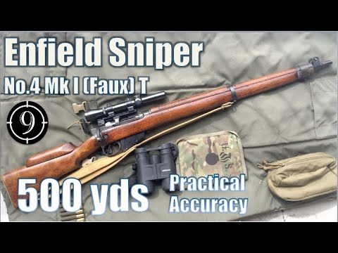 Enfield No.4 MkI Sniper (faux-T) to 600yds: Practical Accuracy (2.5x Vintage Weaver scope) (Milsurp)