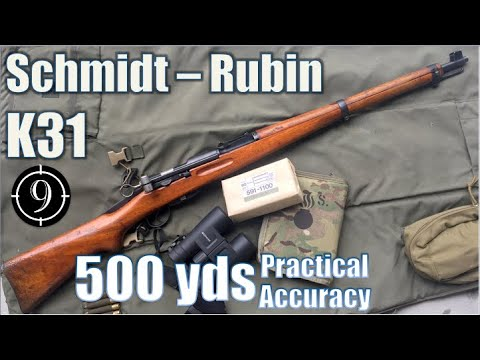 Swiss K31 to 500yds: Practical Accuracy (Schmidt Rubin shot with GP11ammo) (Milsurp)