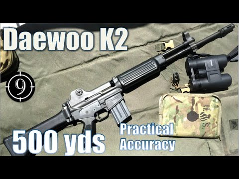 Daewoo K2 to 500yds: Practical Accuracy (Iron Sights) (Milsurp)