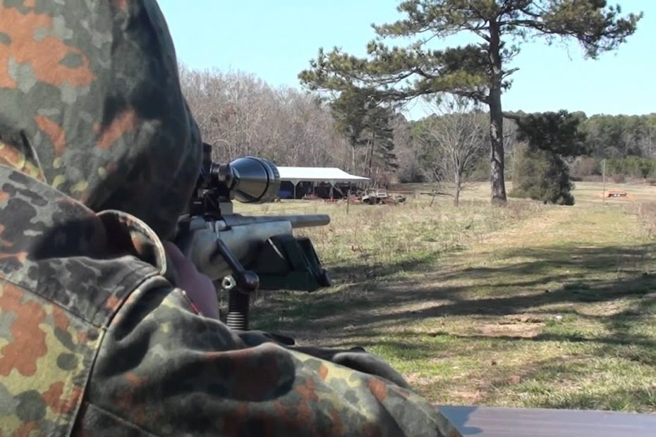 Custom Mosin Sporter Rifle in 7.62x54r hitting 16″ rounds at 400 meters