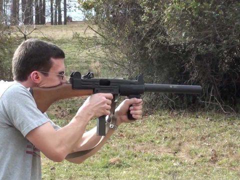 UZI SMG in 9mm w/ Suppressor Full Auto