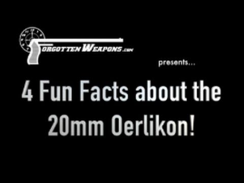 Four Fun Facts about the Oerlikon 20mm Antiaircraft Cannon!