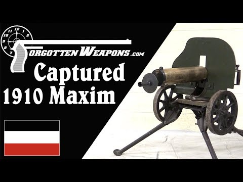 German-Capture 1910 Russian Maxim in 8×57