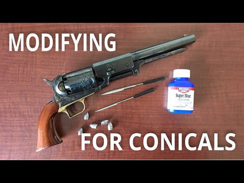 Modifying the Uberti Colt Walker for Conical Bullets
