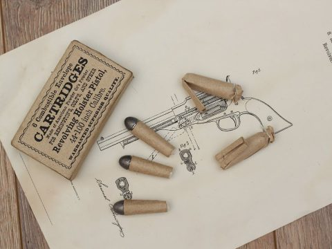 Making paper cartridge for percussion revolver – combustible envelope cartridge