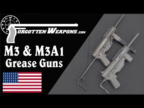 M3 and M3A1 Grease Gun SMGs