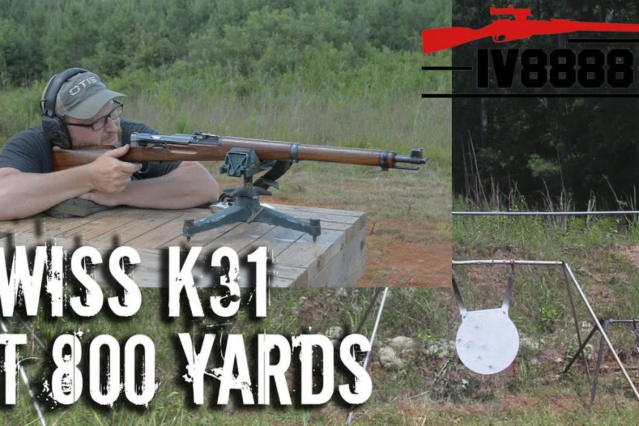 Swiss K31 at 800 Yards Open Sights