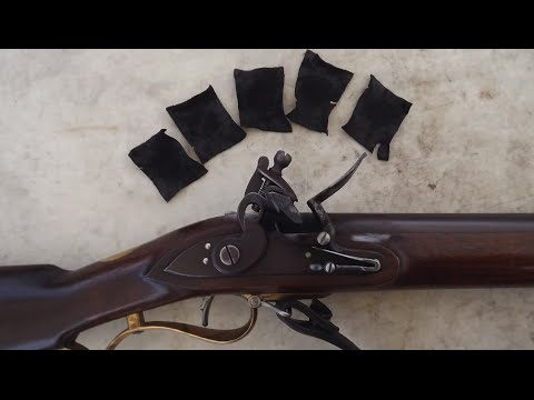 The 1800 Pattern Baker Rifle:  Shooting with Leather Patches