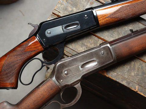 Original Winchester 1886 and Pedersoli 1886/71 lever action comparison