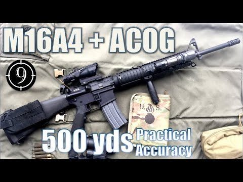 M16A4 + ACOG to 500yds: Practical Accuracy (BCM upper)