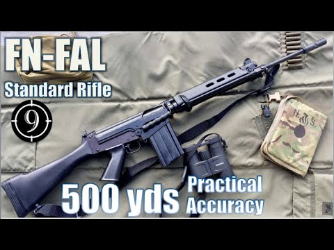 FN FAL (standard) to 500yds: Practical Accuracy (Iron Sights, DSArms aka PUBG SLR) (Milsurp)