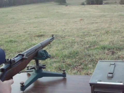 M1 Garand at 220 Yards on Steel Plates