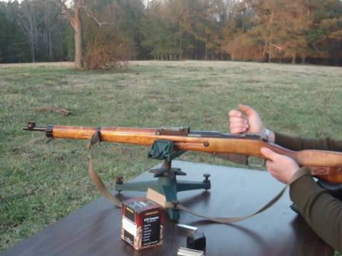 Finnish M39 at 250 yards on steel plates