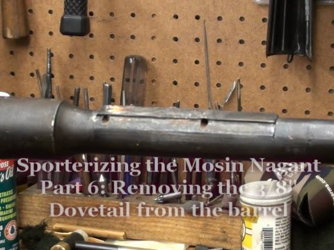 Sporterizing the Mosin Nagant Part 6- Finishing up metal work and applying finish