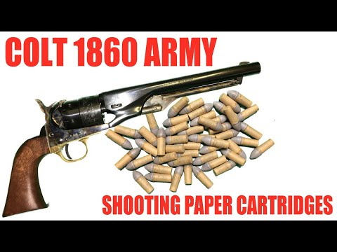 Colt 1860 Army: Shooting Paper Cartridges