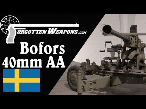 Swedish Antiaircraft Artillery: Bofors 40mm Automatic Gun M1