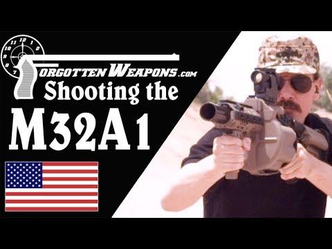 Shooting the Milkor M32 40mm Grenade Launcher